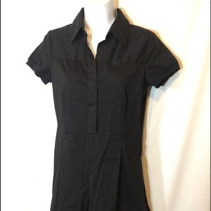 Theory black dress with side zipper size 6